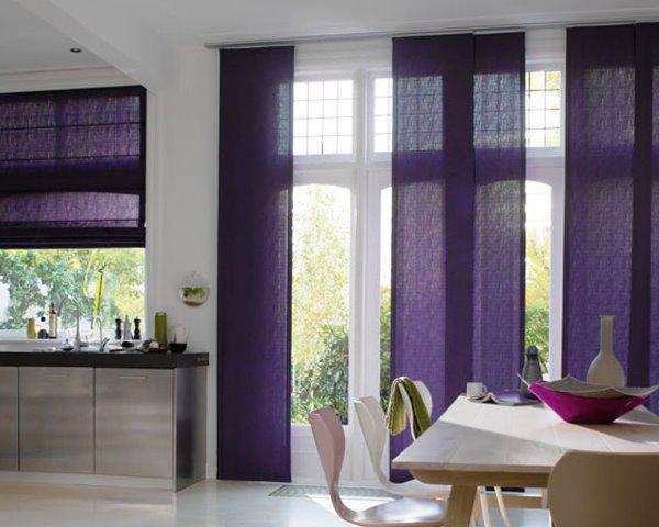 Японские шторы на кухню фото