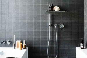 черно-белая ванная фото 17