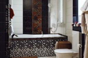 черно-белая ванная фото 18