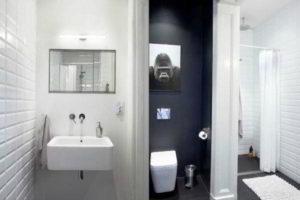 черно-белая ванная фото 20