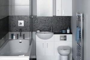 черно-белая ванная фото 24
