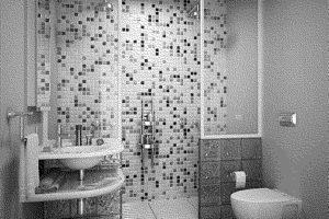 черно-белая ванная фото 25