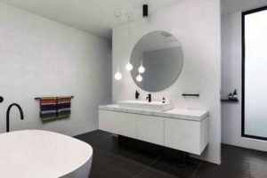 черно-белая ванная фото 26