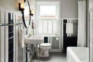 черно-белая ванная фото 27