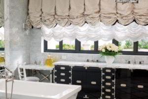 черно-белая ванная фото 30