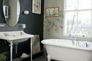 черно-белая ванная фото 31