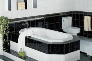 черно-белая ванная фото 38