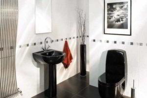 черно-белая ванная фото 39