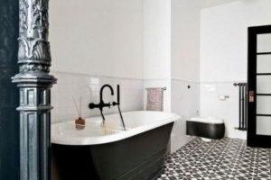 черно-белая ванная фото 40