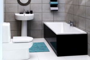 черно-белая ванная фото 41