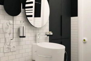 черно-белая ванная фото 43