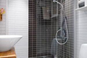 черно-белая ванная фото 47