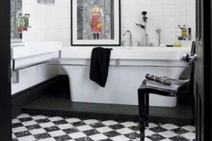 черно-белая ванная фото 48