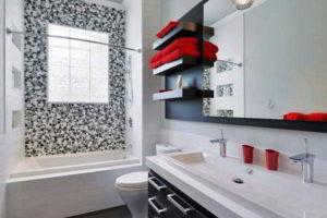 черно-белая ванная фото 8