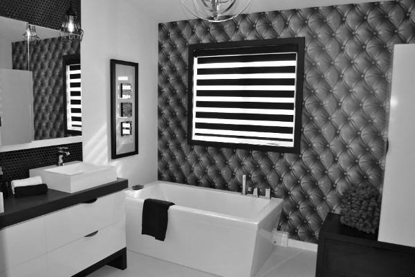 черно белый интерьер ванной комнаты фото 19