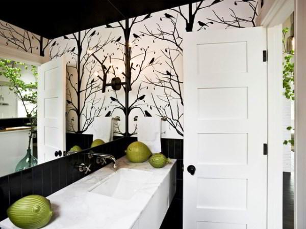 ванная в черно белом стиле фото 7