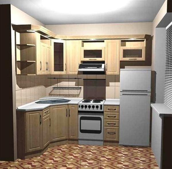 дизайн маленькой кухни 5 кв. м фото 2