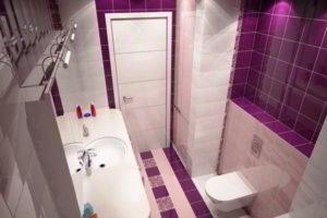 ванная с туалетом 3 кв. м фото 18