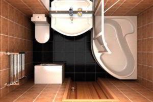 ванная с туалетом 3 кв. м фото 2