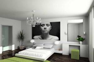 фотообои в интерьере спальни фото 23