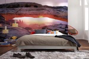 фотообои в интерьере спальни фото 27