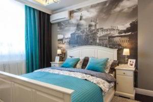 фотообои в интерьере спальни фото 37