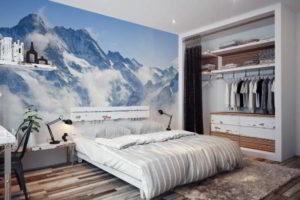 фотообои в интерьере спальни фото 42