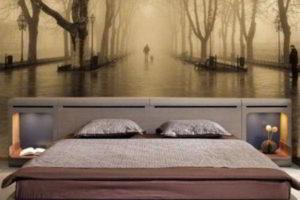 фотообои в интерьере спальни фото 52