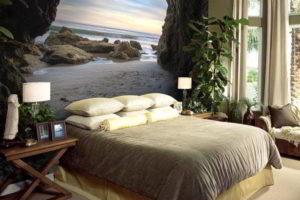 фотообои в интерьере спальни фото 54