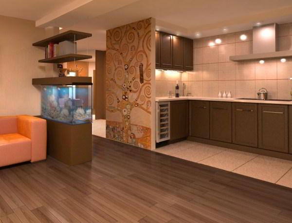 гостиная совмещенная с кухней дизайн фото 13