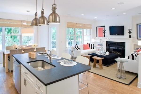гостиная совмещенная с кухней дизайн фото 5