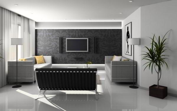 идеи комбинирования обоев в гостиной фото 4
