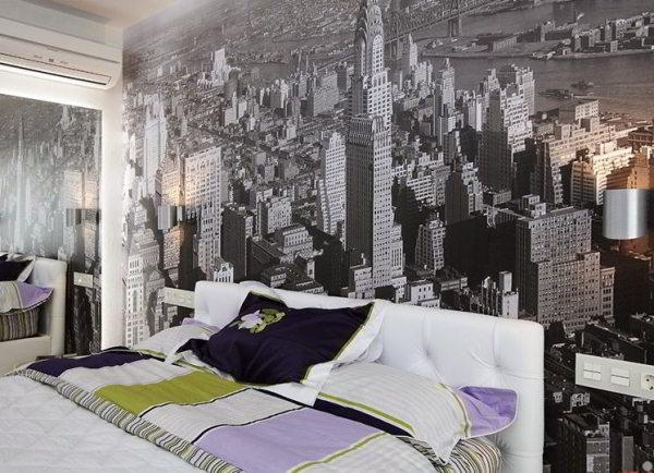 спальня с фотообоями фото 3