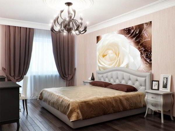 спальня с фотообоями фото 7