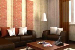 комбинирование обоев в гостиной фото 27
