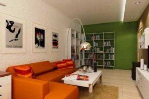 комбинирование обоев в гостиной фото 37