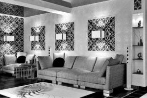 комбинирование обоев в гостиной фото 42
