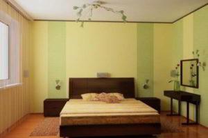 комбинированные обои для спальни фото 3