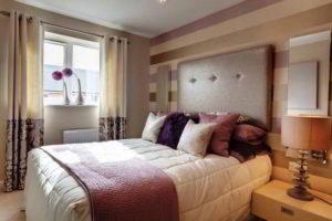 комбинированные обои для спальни фото 4