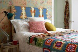 комбинированные обои для спальни фото 53