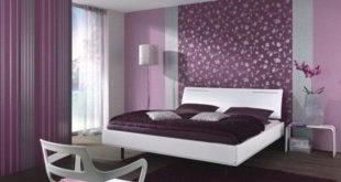комбинированные обои в спальне дизайн фото