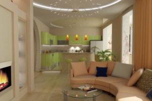 кухня и гостиная вместе фото 15