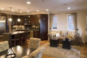 кухня и гостиная вместе фото 22