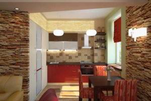 кухня и гостиная вместе фото 23