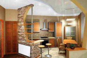 кухня и гостиная вместе фото 25