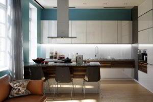кухня и гостиная вместе фото 26