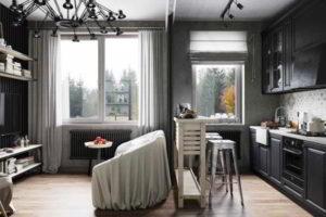 кухня и гостиная вместе фото 30