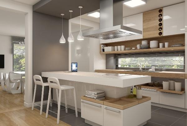 кухня с островом фото 10