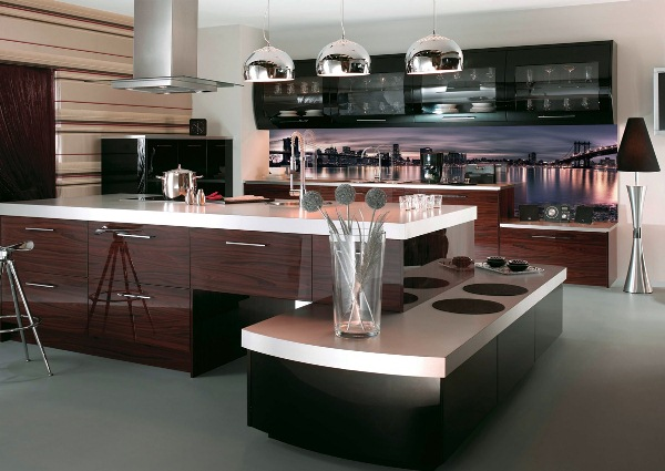 кухня с островом фото 13
