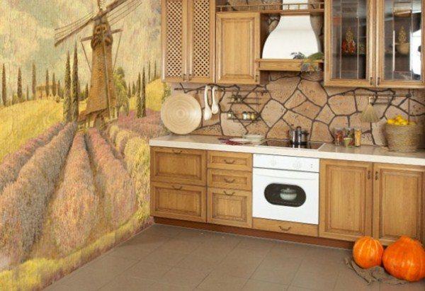 оформление стен на кухне фото 3